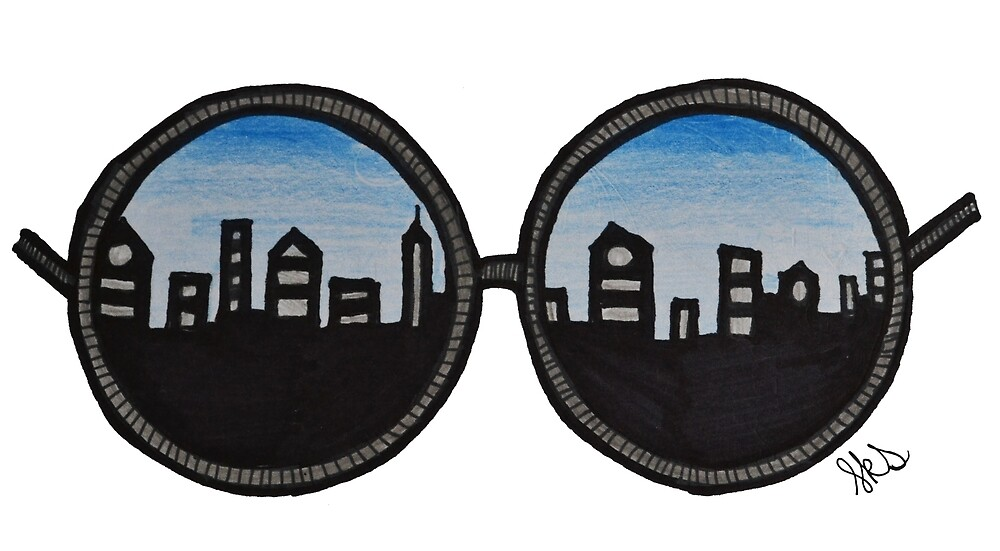 City Glasses by SarahSketches