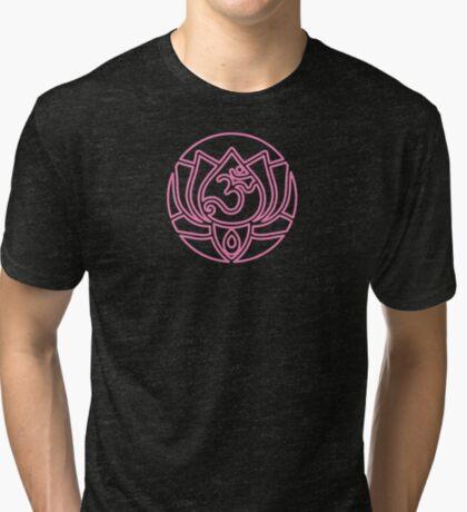 Lotus Om Yoga T-shirt Tri-blend T-Shirt
