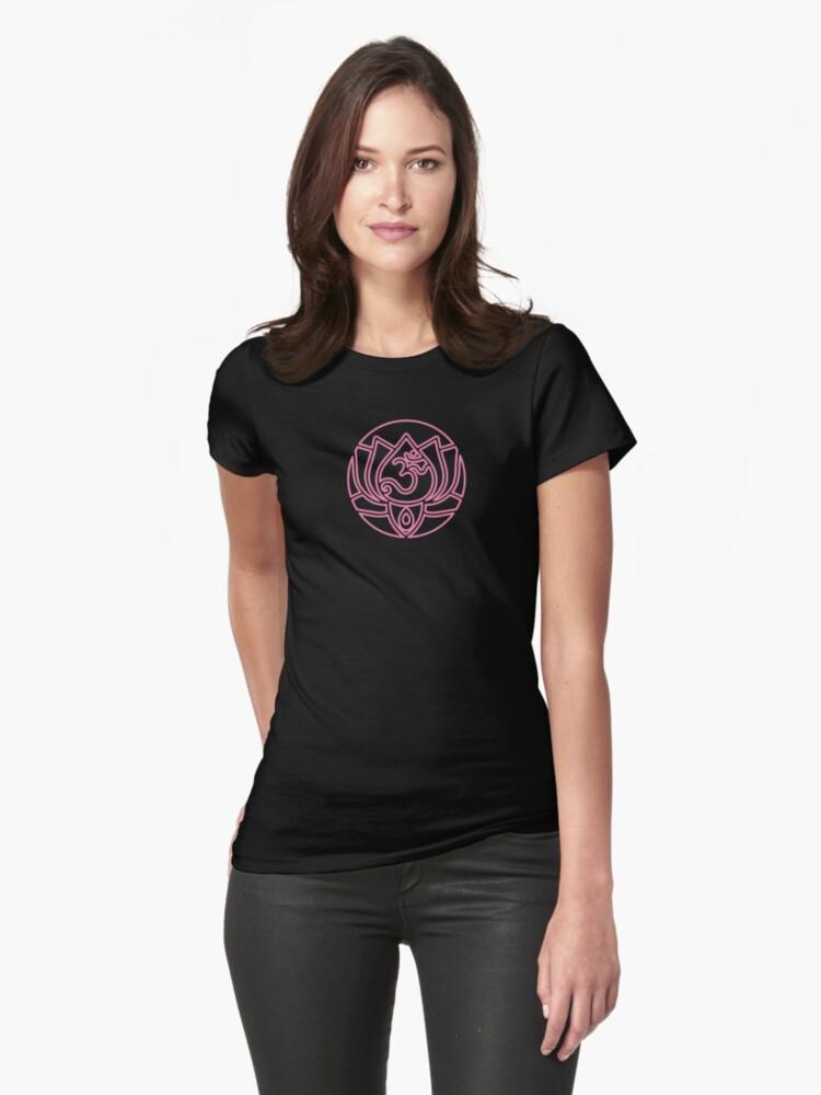 Lotus Om Yoga T-shirt by dropSoul