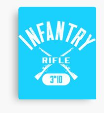3rd ID Military Infantry Design Canvas Print