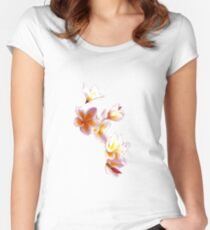 Frangipani #1 Women's Fitted Scoop T-Shirt