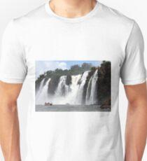 Iguazu Falls and boats, Argentina T-Shirt