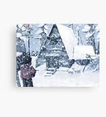 Mystery Shack in Winter Canvas Print