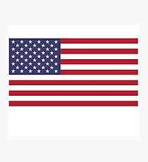 American Flag Dress - USA Stars & Stripes Skirt Photographic Print