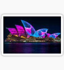 Wonderful new Designs on the Opera House at Vivid Sydney Sticker