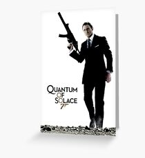 James Bond 007 Quantum of Solace Greeting Card