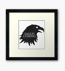 the Eagles are Coming ! Framed Print