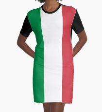 Italian Flag Mini Skirt Dress Graphic T-Shirt Dress