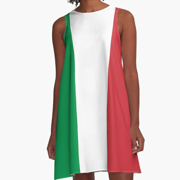 Italian Flag Mini Skirt Dress A-Line Dress