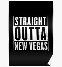 "Fallout ""Straight Outta New Vegas"" Logo Poster"