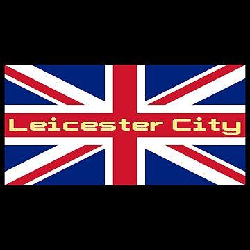 Leicester City T-Shirt Flag Sticker by deanworld