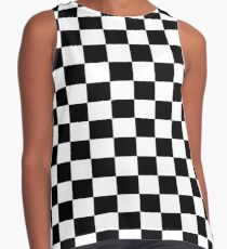Blusa sin mangas Pequeño negro blanco Compruebe Motorsport Race Flag Checkered Skirt Pillow