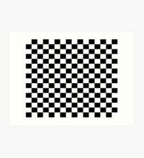Small Black White Check Motorsport Race Flag Checkered Skirt Pillow Art Print