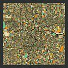 HOUSTON MAP by JazzberryBlue