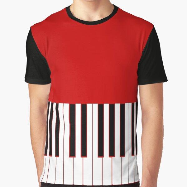 Piano Player Womens T-Shirt Graphic T-Shirt