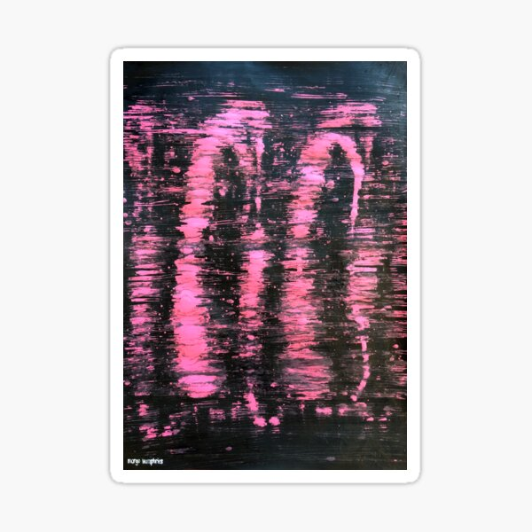 """Pink Highlights"" by Margo Humphries Sticker"