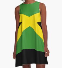 BIG UP Jamaika Flagge Rock Hot Reggae T-Shirt Bettdecke A-Linien Kleid