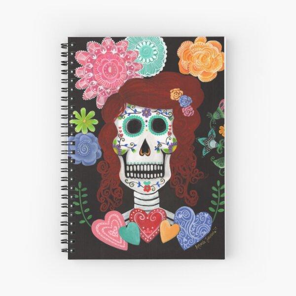Catrina'a Garden - Dia de los Muertos (Day of the Dead) Spiral Notebook