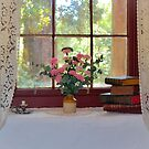 Cottage window. by Jeanette Varcoe.