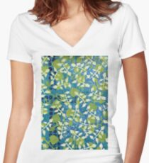 """Greenery"" by Margo Humphries Women's Fitted V-Neck T-Shirt"