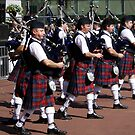 Scottish Pipe Band by Mark Andrew Turner