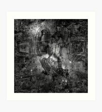 When The Stars Are Right - M78 in Orion (b&w version) Art Print