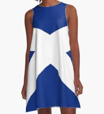 BIG St Andrew's Cross - Scottish Flag T-Shirt Bedspread Duvet A-Line Dress