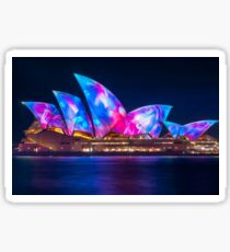Amazing new Designs on the Opera House at Vivid Sydney Sticker