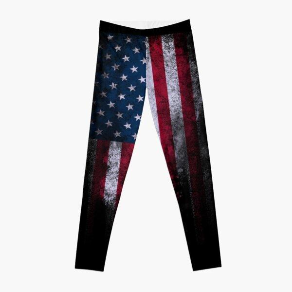 USA America Flag Leggings
