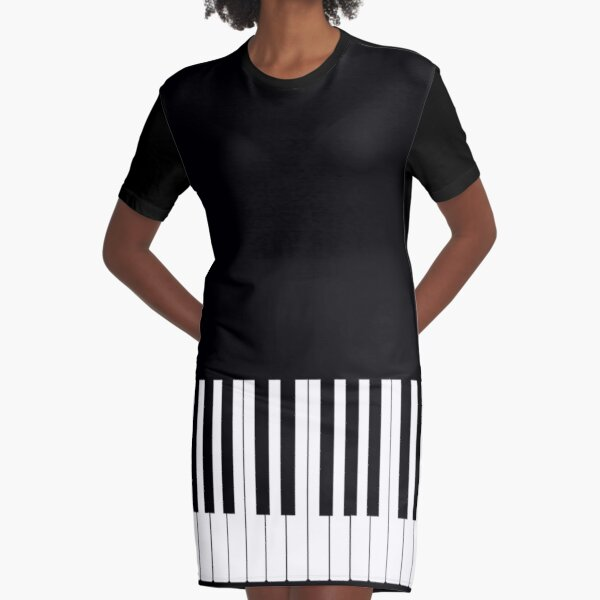 Musician Piano Keys Cell Phone Case Cover Graphic T-Shirt Dress