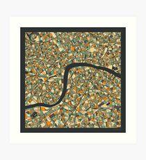 LONDON MAP (6) Art Print