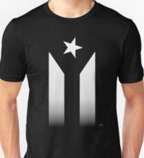 Puerto Rico Black & White Protest Flag Unisex T-Shirt