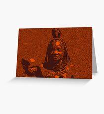 Himba woman Greeting Card