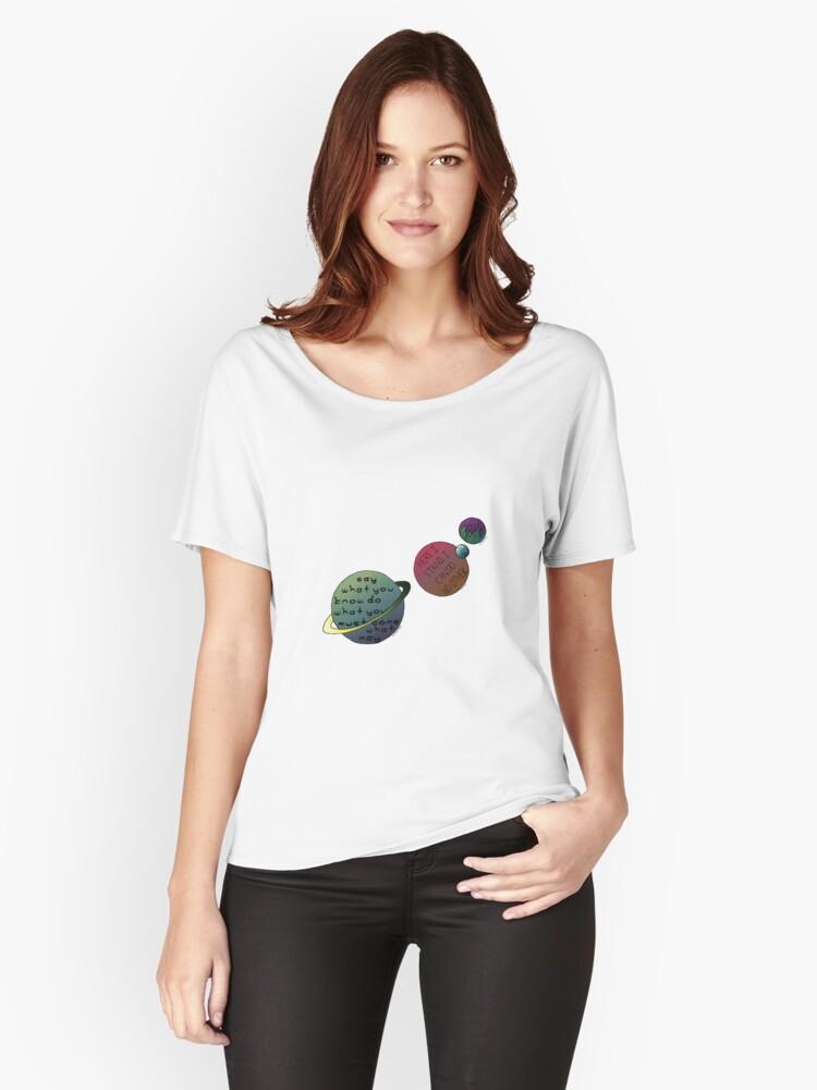Para Anchas Lutero Mujer Vonnegut «planetas Camisetas Kovalevsky Y 5R46xwwqz
