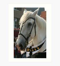 Joust horse Art Print