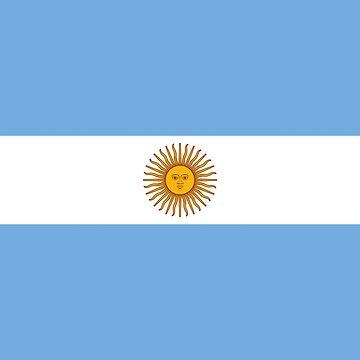 Argentina - Argentinian T-Shirt Duvet Sticker by deanworld