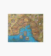 Baldur's Gate Map  Art Board