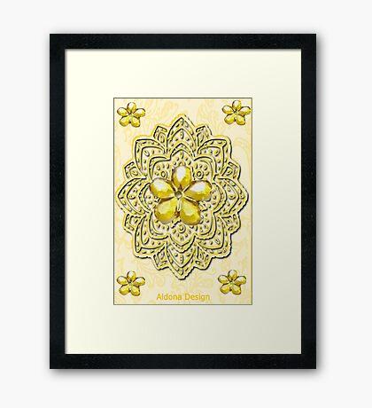 Yellow Pattern (2255 views) Framed Print