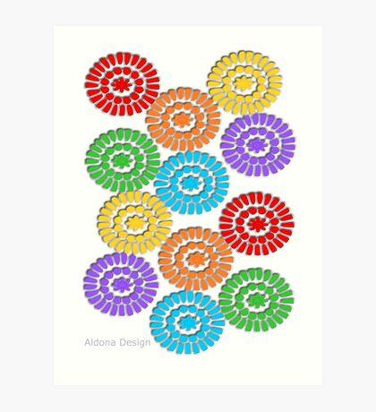 rainbow circle pattern ( 1112 Views) Art Print