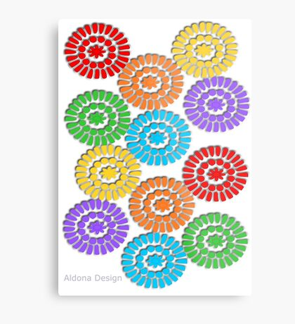 rainbow circle pattern ( 1112 Views) Metal Print