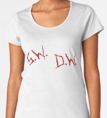 Winchester's Initials (White & Red) Women's Premium T-Shirt
