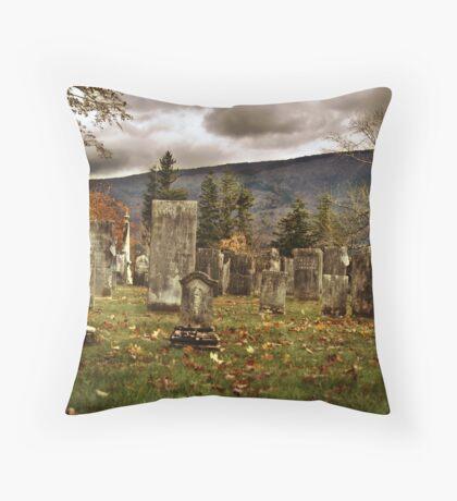 Vermont Cemetery III Throw Pillow
