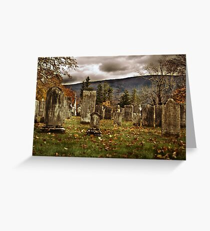 Vermont Cemetery III Greeting Card