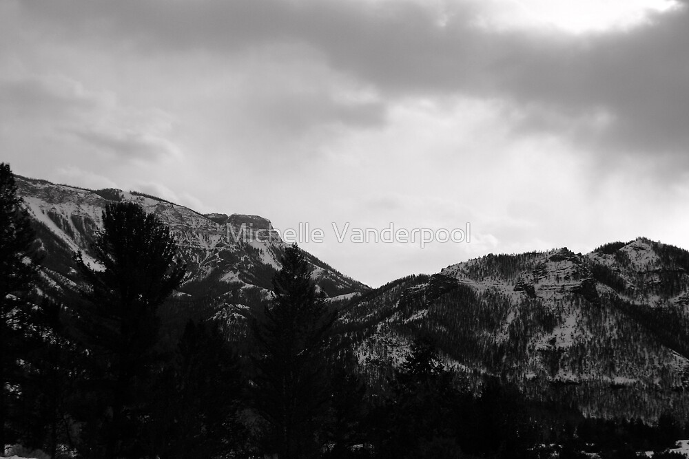 snow covered mountain by Michelle Vanderpool