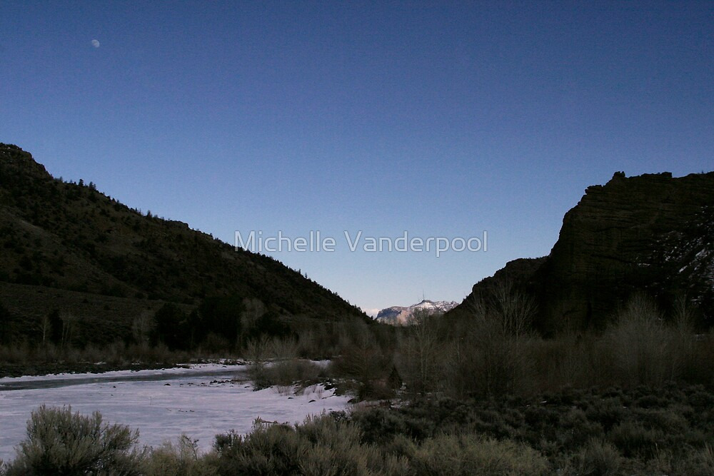 moon in the distance color by Michelle Vanderpool