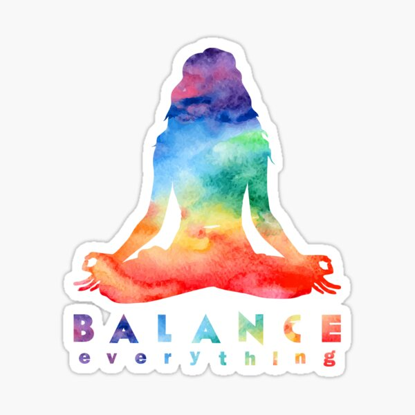 Balance Everything with Meditation Sticker