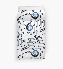 Watercolor musical notes Duvet Cover
