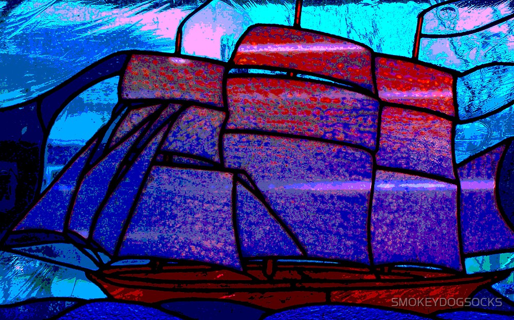 STAINED GLASS SHIP by SMOKEYDOGSOCKS