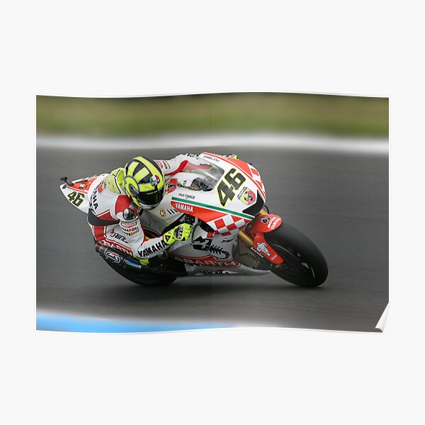 Valentino Rossi at MG in 2007 Poster