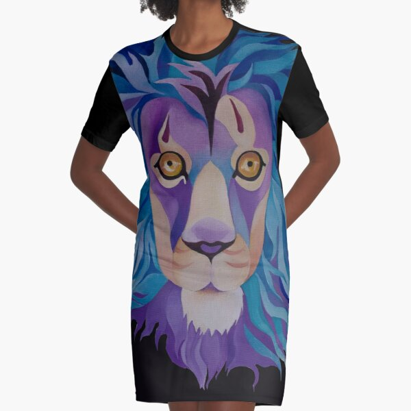 """Lion"" Graphic T-Shirt Dress"